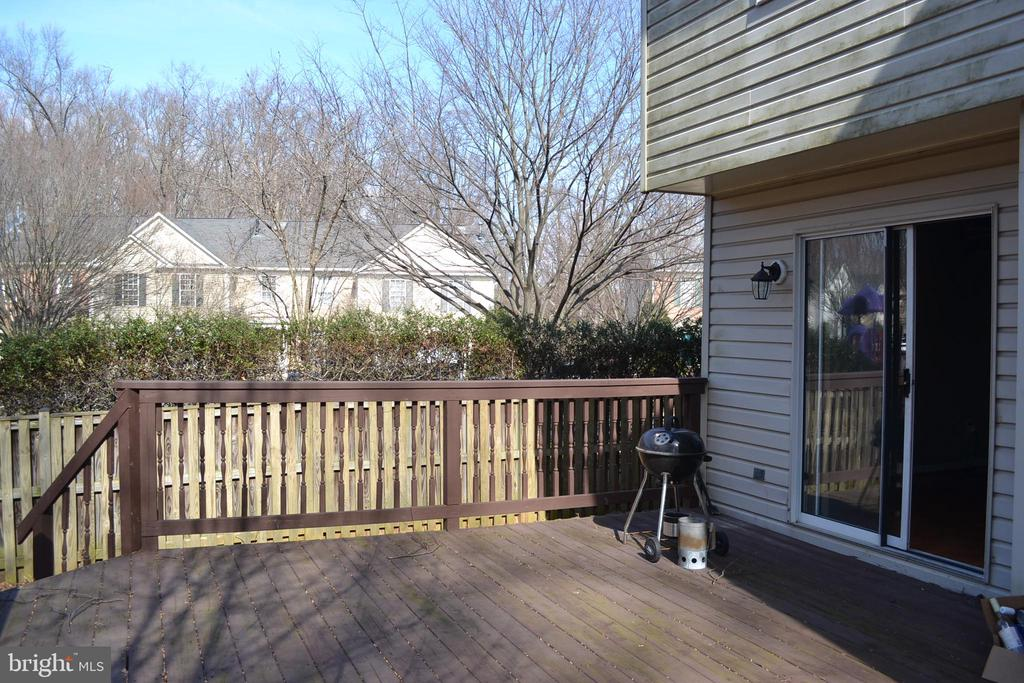 Back Deck  Fenced in Yard. - 2512 LITTLE VISTA TER, OLNEY