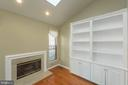 Sun room fireplace, built ins and sky light - 46675 ASHMERE SQ, STERLING