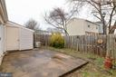 Fully Fenced with a nice patio and 1 of two sheds - 3806 PORT HOPE PT, TRIANGLE