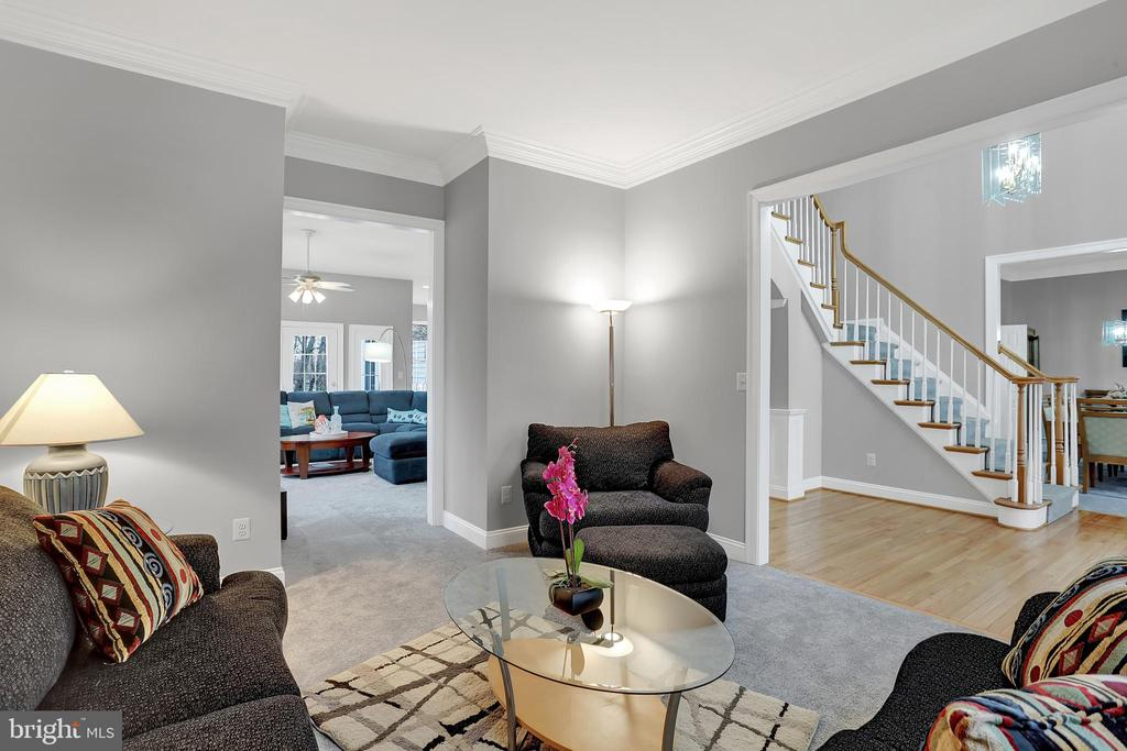 10' ceilings throughout the home - 13890 LEWIS MILL WAY, CHANTILLY