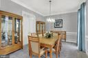 Graceful formal dining room - 13890 LEWIS MILL WAY, CHANTILLY