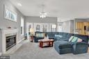 Family room open to kitchen - 13890 LEWIS MILL WAY, CHANTILLY