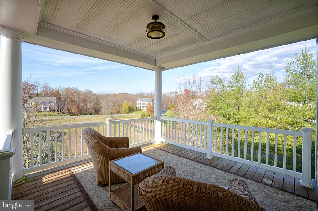 View from Master Bedroom deck - 9004 ADAMS CHASE CIR, LORTON