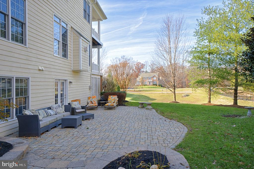 Enjoy the peace and quiet from your back patio - 9004 ADAMS CHASE CIR, LORTON