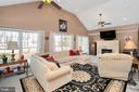 Vaulted Ceilings, Ceiling Fan in Living Room - 20466 LITTLE LIGNUM WAY, LIGNUM