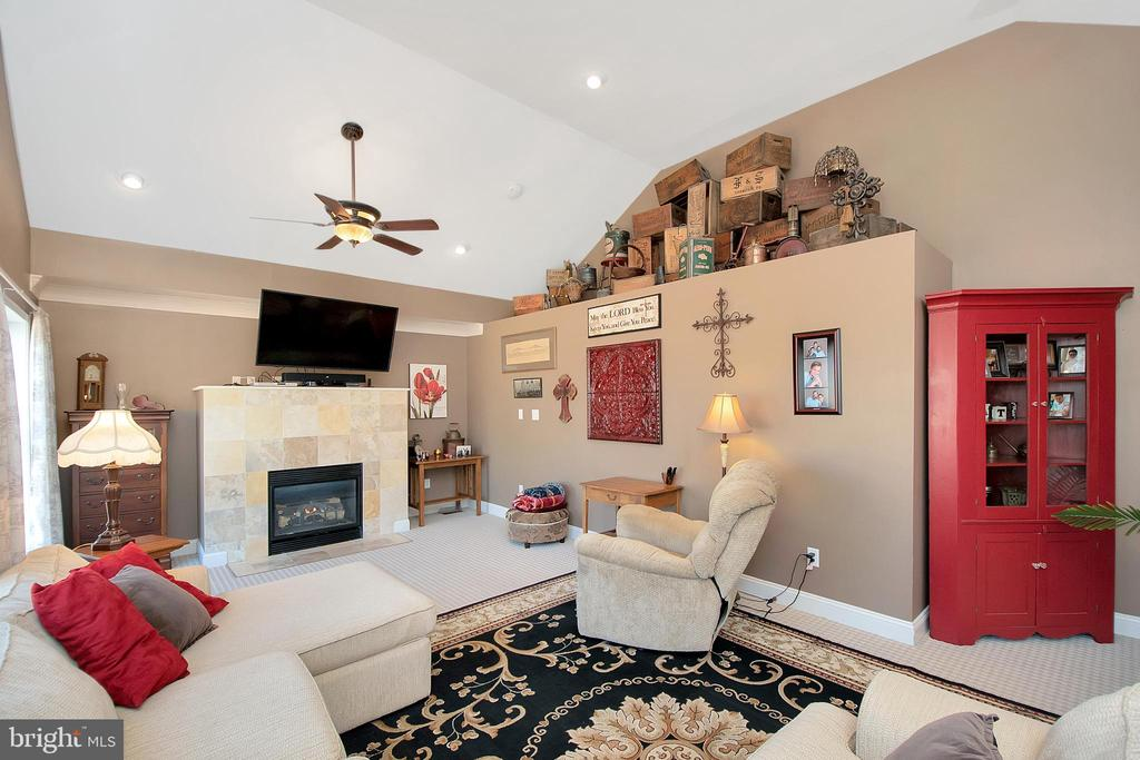 Gas Fireplace and Display ledge in Living Room - 20466 LITTLE LIGNUM WAY, LIGNUM