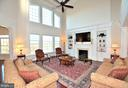 TWO STORY FAMILY ROOM WITH GAS FIREPLACE - 42072 MANSFIELD PARK CT, CHANTILLY
