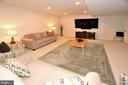 LOWER LEVEL MEDIA ROOM - 42072 MANSFIELD PARK CT, CHANTILLY