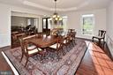FORMAL DINING ROOM - 42072 MANSFIELD PARK CT, CHANTILLY