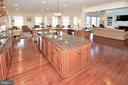 KITCHEN WITH ISLAND - 42072 MANSFIELD PARK CT, CHANTILLY