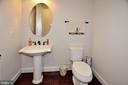 ONE OF TWO MAIN LEVEL POWDER ROOMS - 42072 MANSFIELD PARK CT, CHANTILLY
