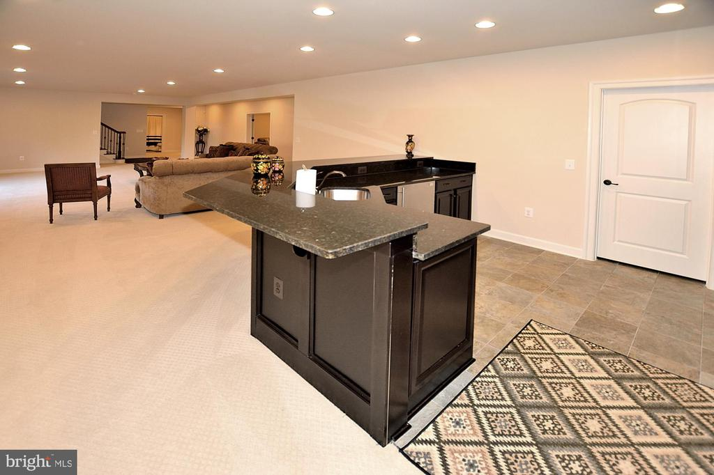 LOWER LEVEL GREAT/REC ROOM WITH WET BAR - 42072 MANSFIELD PARK CT, CHANTILLY