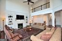 FAMILY ROOM WITH SECOND LEVEL OVERLOOK - 42072 MANSFIELD PARK CT, CHANTILLY