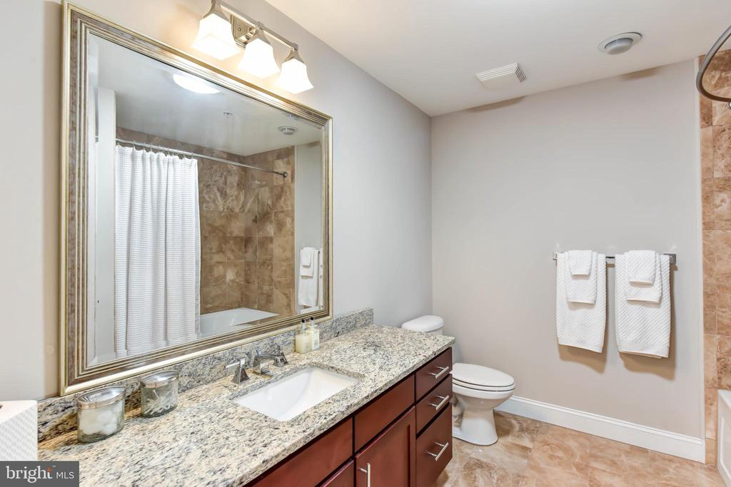 Bathroom 2 with Granite Counters - 6301 EDSALL RD #621, ALEXANDRIA