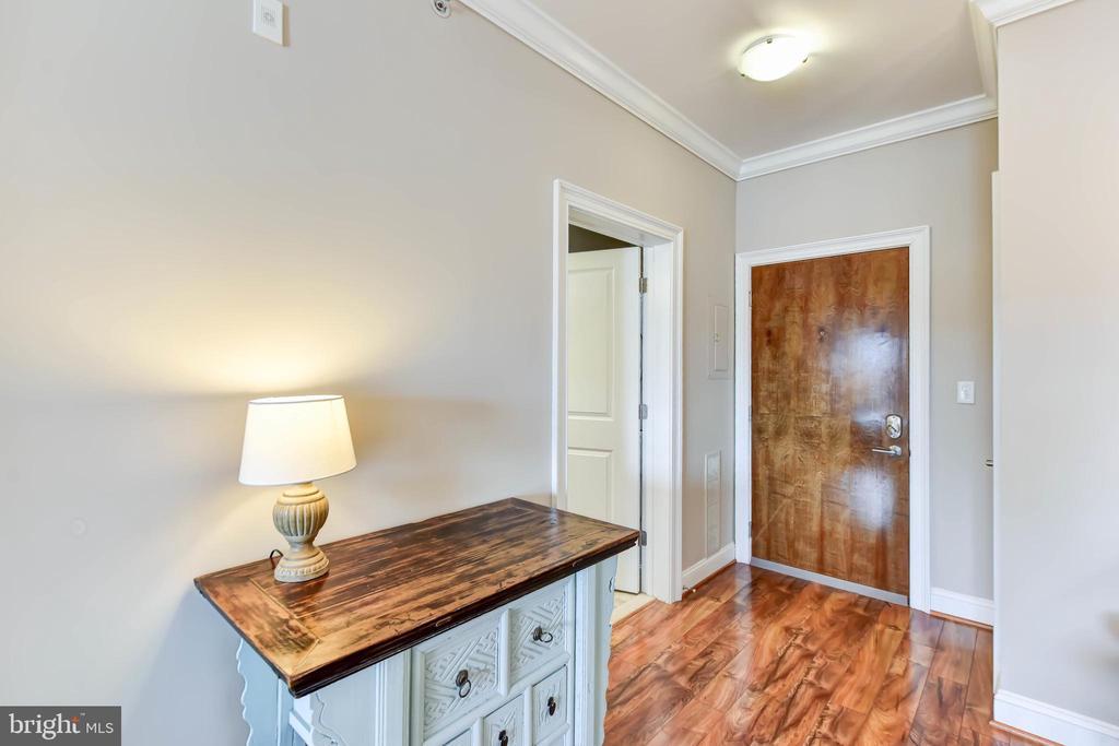 Entry Foyer with Stunning  Wood Floors - 6301 EDSALL RD #621, ALEXANDRIA