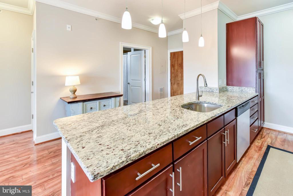 Kitchen with Granite Countertops - 6301 EDSALL RD #621, ALEXANDRIA