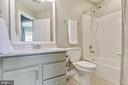 Second full bathroom upstairs - 906 HARRISON CIR, ALEXANDRIA