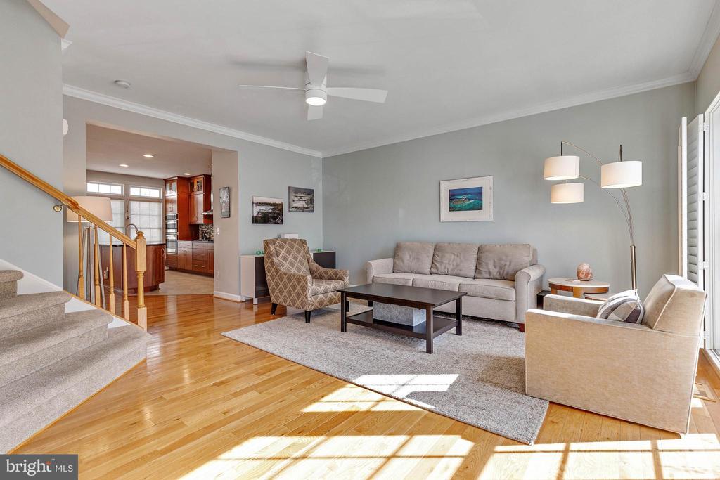 Spacious living room - 906 HARRISON CIR, ALEXANDRIA
