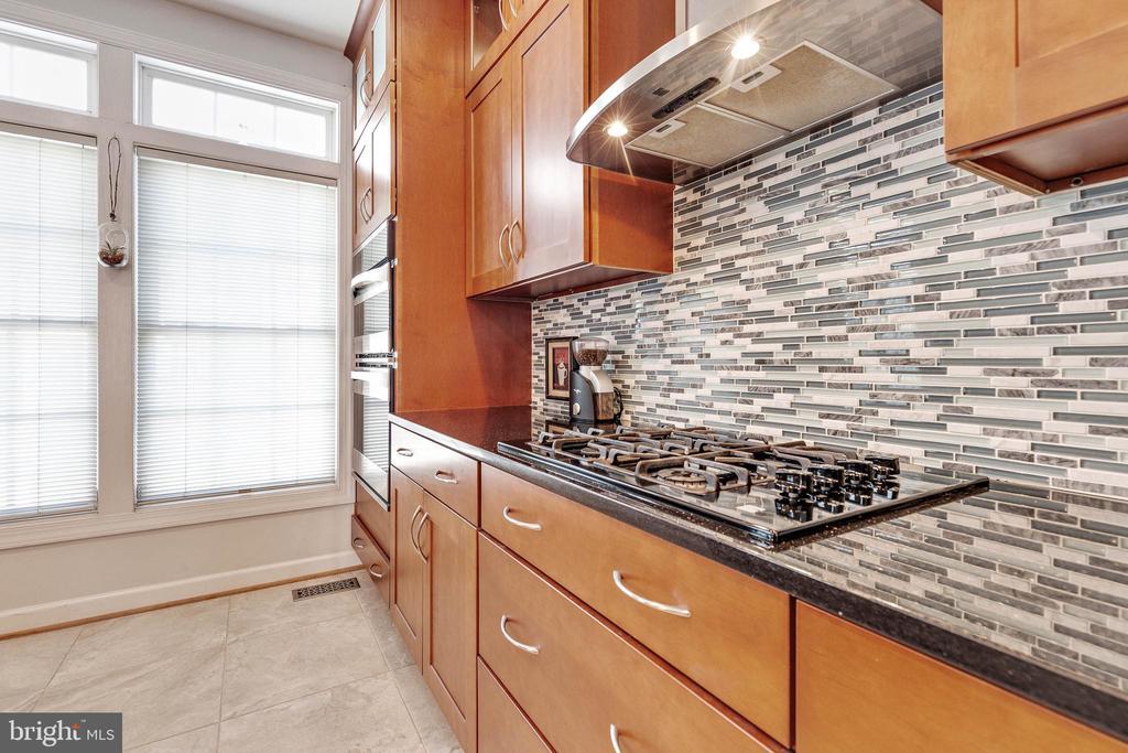 Sharp backsplash/ cooktop/ wall oven - 906 HARRISON CIR, ALEXANDRIA