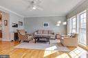 Welcome home to this comy living room ! - 906 HARRISON CIR, ALEXANDRIA