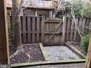 Rear fence - 6616 HUNTER CREEK LN, ALEXANDRIA