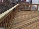 Rear deck - 6616 HUNTER CREEK LN, ALEXANDRIA