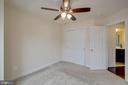 Third bedroom with ceiling fan - 6255 CASDIN DR, ALEXANDRIA