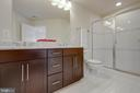 Master bathroom double sink, stand up shower - 6255 CASDIN DR, ALEXANDRIA