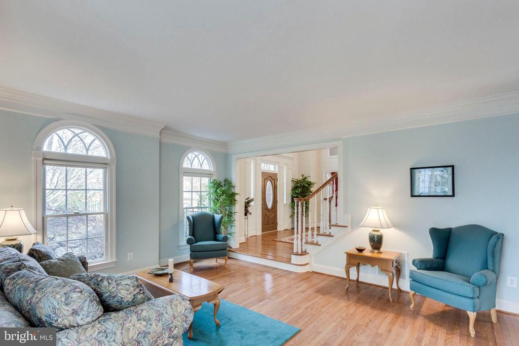Large living room - 1075 CEDAR CHASE CT, HERNDON