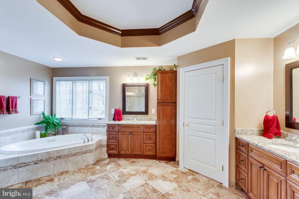 Luxury updated master bath - 1075 CEDAR CHASE CT, HERNDON