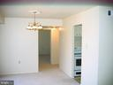 View towards bedroom from living room area - 125 S CLUBHOUSE DR SW #8, LEESBURG