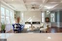 Massive kitchen island with water fall quartz - 1812 N BARTON ST, ARLINGTON