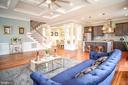Coffered ceilings in family room - 1812 N BARTON ST, ARLINGTON