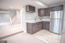 Kitchenette with stainless and quartz - 1812 N BARTON ST, ARLINGTON