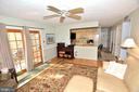 Hardwood floors and ceiling fan - 15700 CRANBERRY CT, DUMFRIES