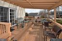 Spacious back deck - 15700 CRANBERRY CT, DUMFRIES