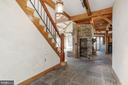 Entry- stone flooring - 36913 PAXSON RD, PURCELLVILLE