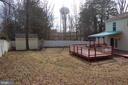 Large fenced rear yard - 7003 SOULIER LN, FREDERICKSBURG