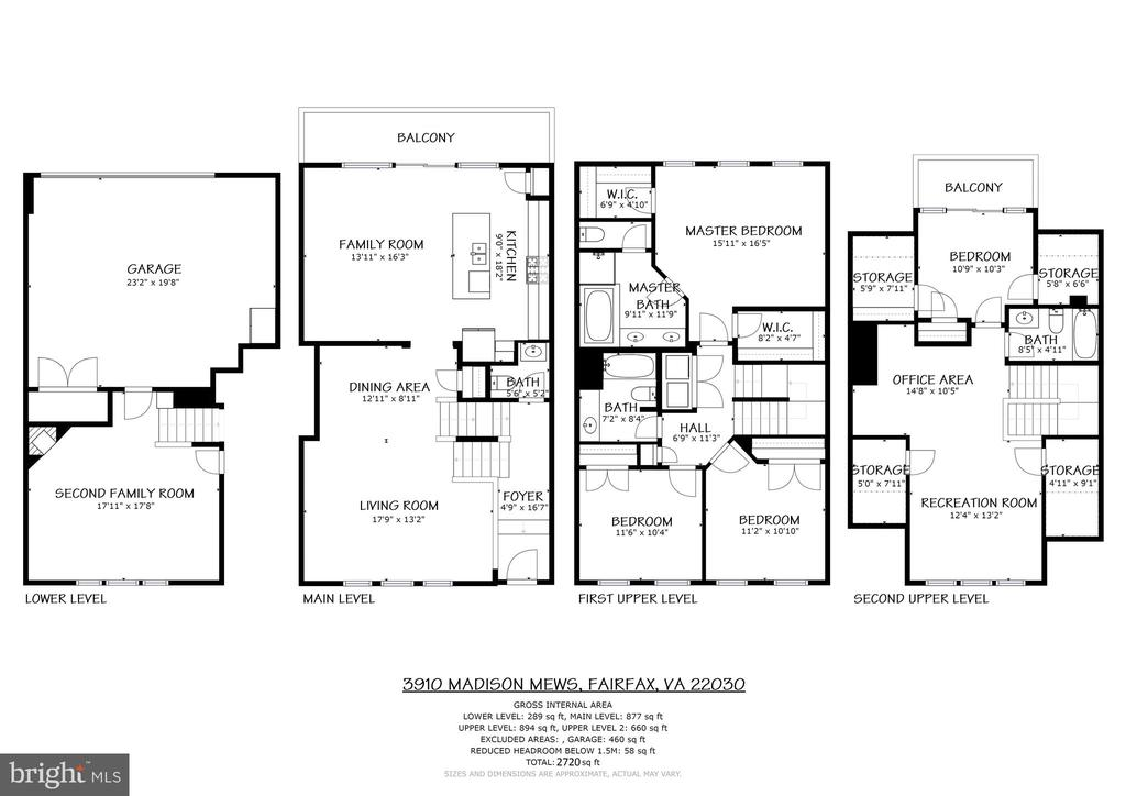 Floor Plans - 3910 MADISON MEWS, FAIRFAX