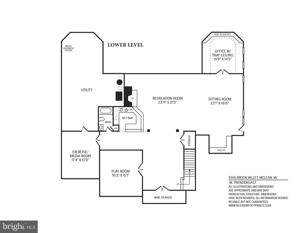 Lower Walk-Out Level - 1049 BROOK VALLEY LN, MCLEAN