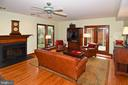 Family Room with Fireplace - 2259 N WAKEFIELD ST, ARLINGTON