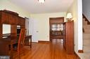 Study looking toward the Living Room - 2259 N WAKEFIELD ST, ARLINGTON