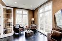 Sitting room with leather walls - 208 MCHENRY ST SE, VIENNA