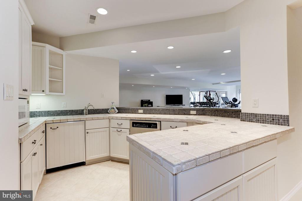 LL Kitchenette with Wine Fridge and DW - 1049 BROOK VALLEY LN, MCLEAN