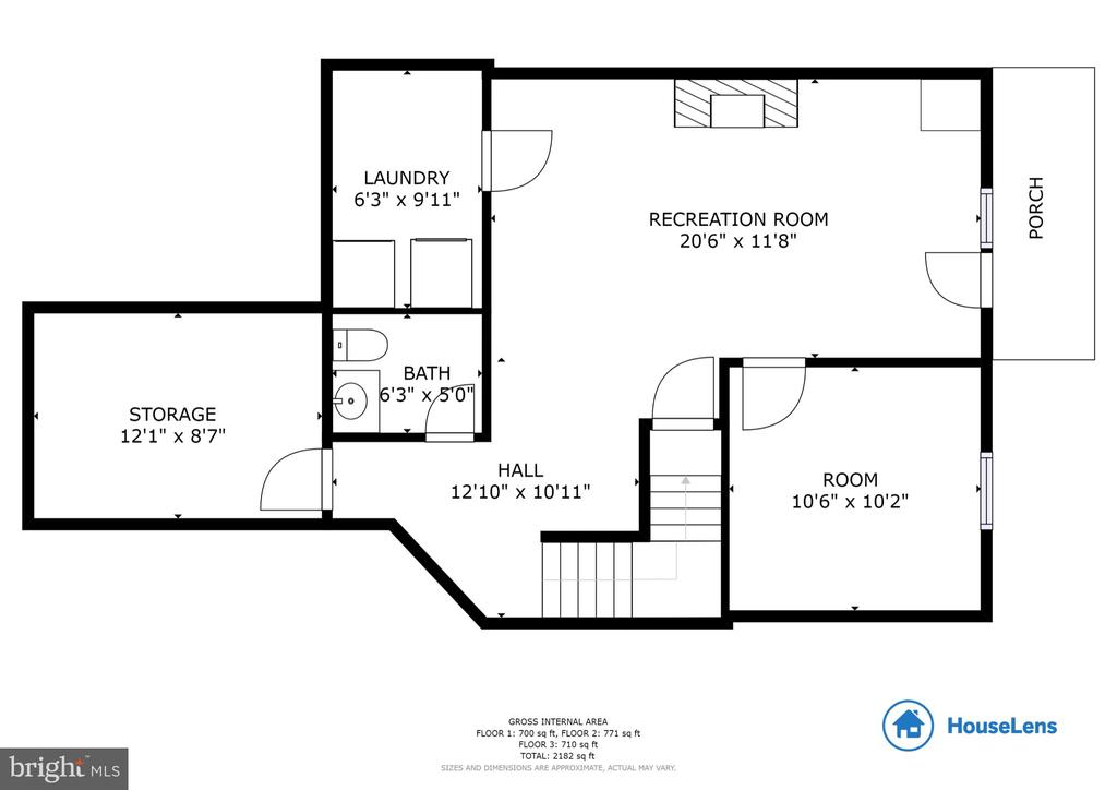 Lower Level Floor Plan - 13169 THRIFT LN, WOODBRIDGE
