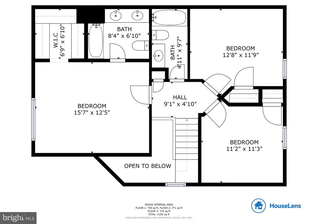 Upper Level Floor Plan - 13169 THRIFT LN, WOODBRIDGE