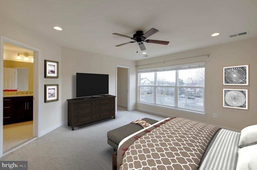 Master suite w/ ceiling fan - 6255 CASDIN DR, ALEXANDRIA