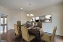 Eat-in kitchen w/ large deck for grilling - 6255 CASDIN DR, ALEXANDRIA