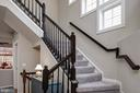 2 story foyer & beautiful staircase - 6857 ROLLING CREEK WAY, ALEXANDRIA
