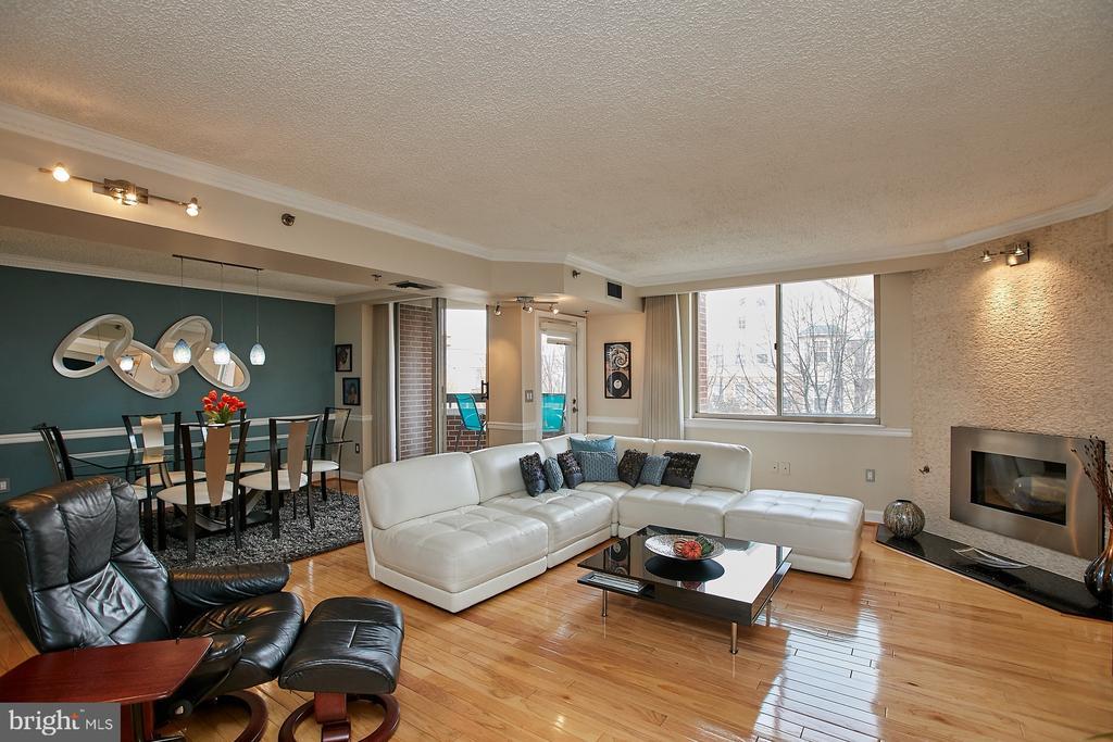 Access to balcony from living room - 1276 N WAYNE ST #418, ARLINGTON